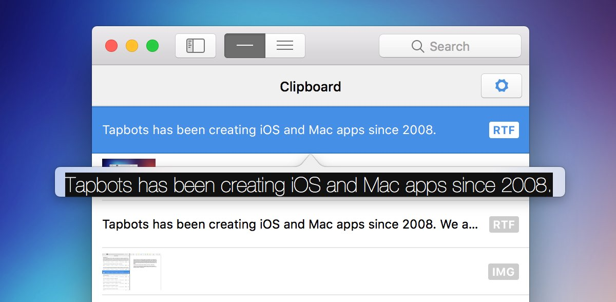 3  The Clipboard - Pastebot for Mac Help