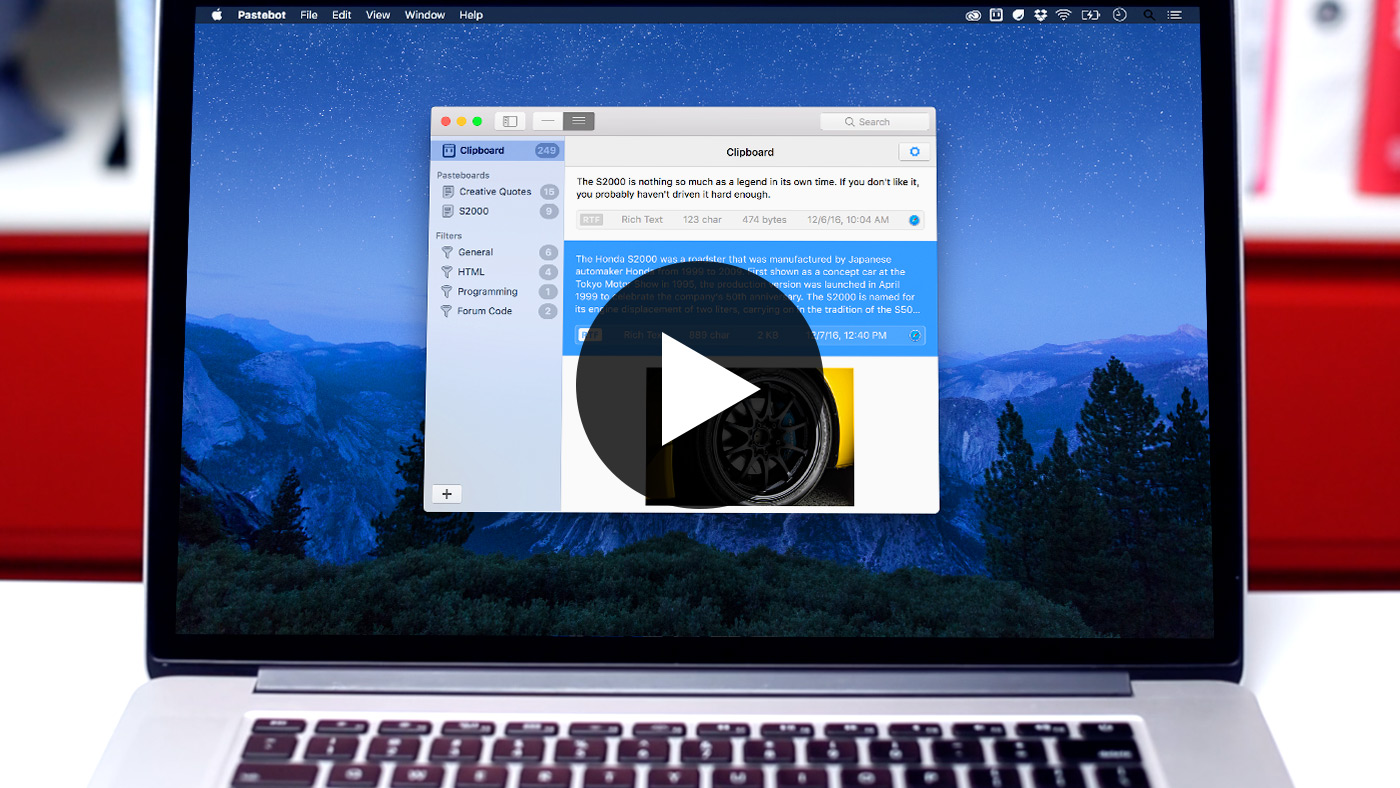 Pastebot 2  破解版 优秀的系统剪切板增强工具-麦氪搜(iMacso.com)